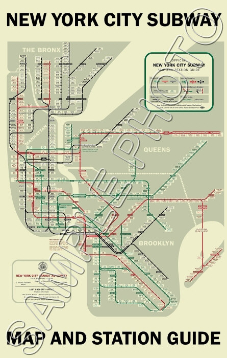 Details about 1958 New York Subway Map Poster 11x17
