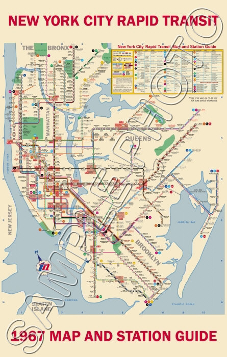 1967 New York Subway Map Poster 11x17 | eBay