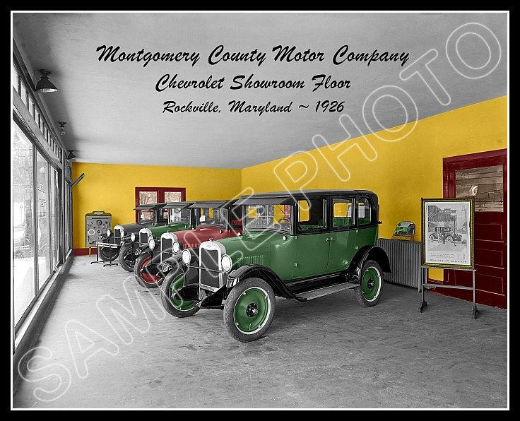 Chevy Dealership Photo 8X10 - Maryland 1926 COLORIZED   eBay