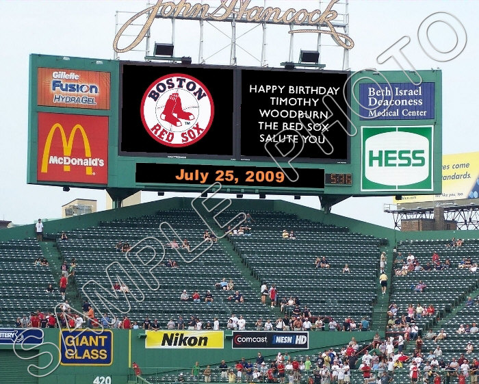 Personalized Fenway Park Scoreboard Photo 8x10 Red Sox Ebay