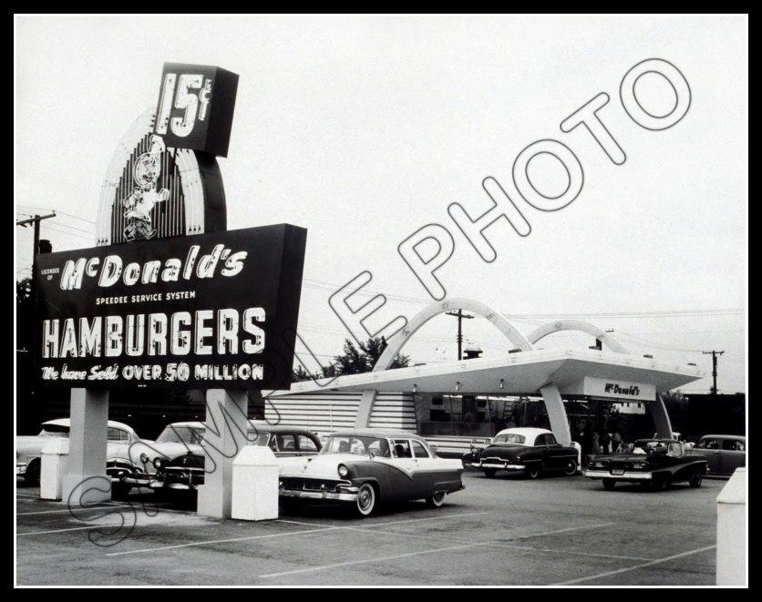 McDonald/'s Restaurant Large Photo 11X14-1950/'s Speedee Kroc