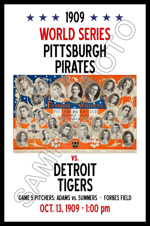 Pirates vs 1903 1st World Series Poster Americans  Buy Any 2 Get 1 FREE