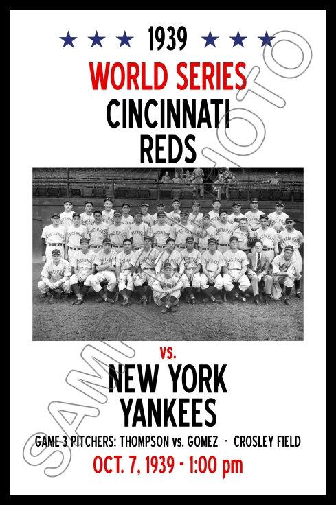 1939 World Series Poster Reds Vs Yankees Ebay