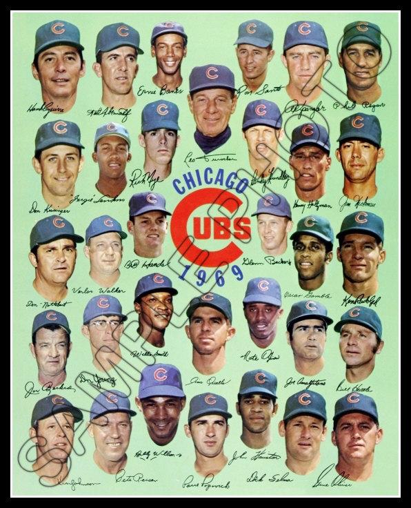 Edward Spangler 1969 Chicago Cubs Team...