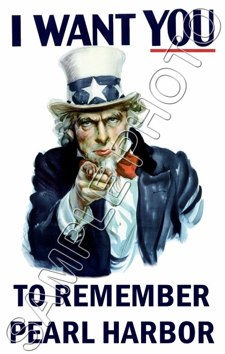 Remember Pearl Harbor Poster >> Uncle Sam Remember Pearl Harbor - 1942 WWII Poster   eBay